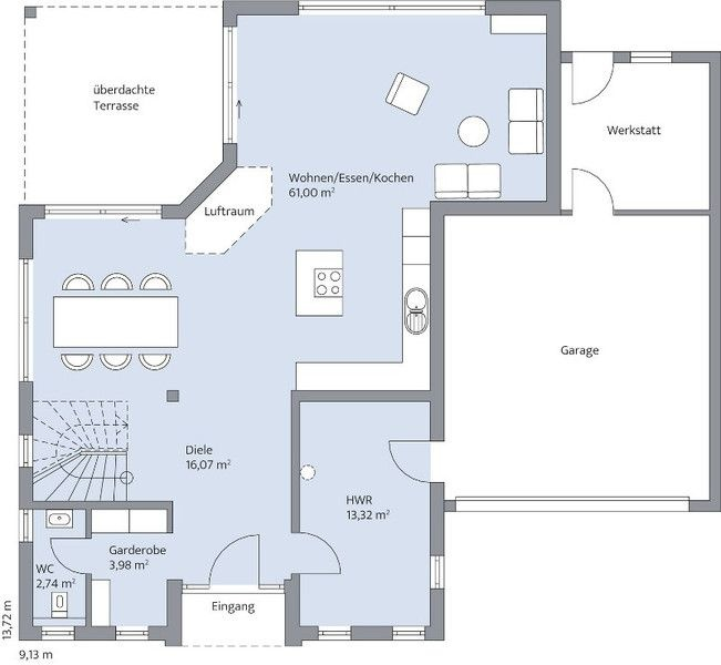 First Floor Modern House Plan