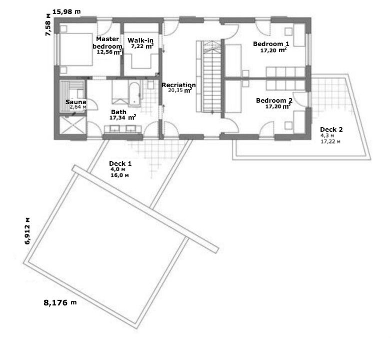 Luxhaus second floor plan